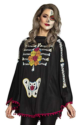 Boland 79185 Poncho Day of The Dead, Mehrfarbig