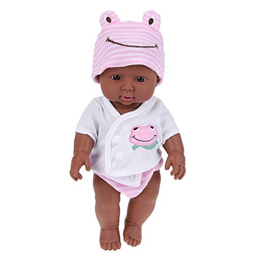 DemiawakingIT - Bambola in vinile morbida in silicone realistica per neonati e bambini, 30 cm, colore: Rosa