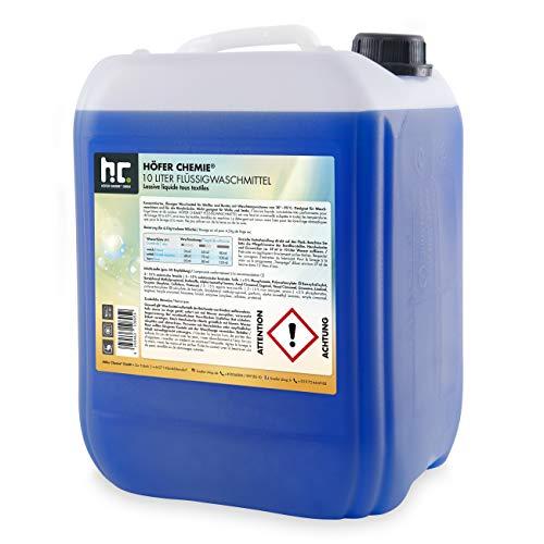 Höfer Chemie 2 x 10 L Waschmittel flüssig - im 10 L Vorratskanister