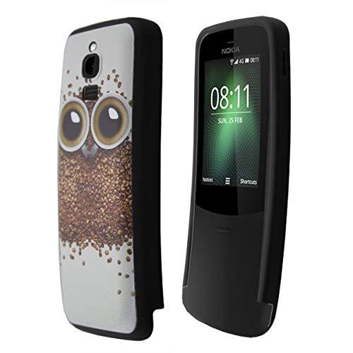 caseroxx TPU-Hülle für Nokia 8110 4G, Handy Hülle Tasche (TPU-Hülle in Eulen Muster)