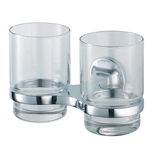 HACEKA aspen Doppelbecherhalter, verchromt, Glaskörper, 1110700