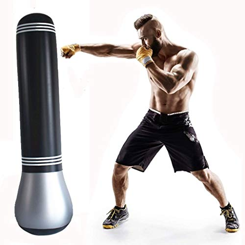 Punching Bag Free Standing 150cm,Punch Bags Free Standing Best Birthday Present for Adult Kid,Free Standing Punch Bag Cover,Martial Arts Fitness Kick Punching Training Dummy Unisex Free Standing Punch