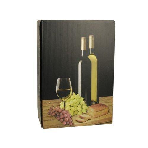 20 Wein-Präsentkarton 36 cm x 25 cm x 9 cm schwarz