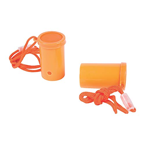 Fun Express - Orange Air Blaster - Toys - Noisemakers - Spirit Noisemakers - 12 Pieces