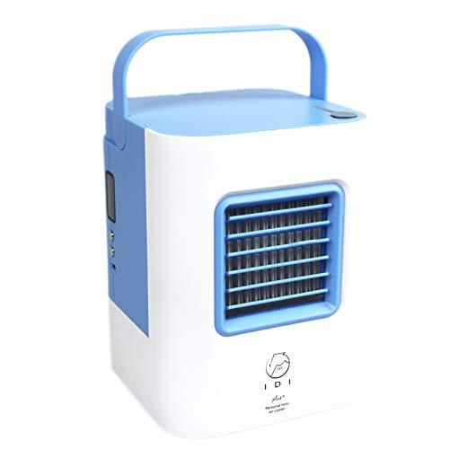 nbws Ventilador de aire Air Cooler con purificador de aire Humidificador enfriamiento de agua, Mini climática dispositivo sin Canalizado Manguera para oficina, hogar, camping, etc, Azul