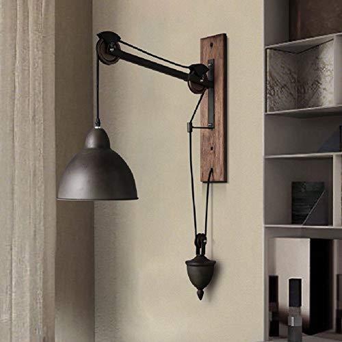 Wandlamp glas wandlamp spiegel voorlicht metaal zwart vintage landhuis riemschijf wandlamp industrial Retro Loft nachtkastje lamp accessoires verlichting