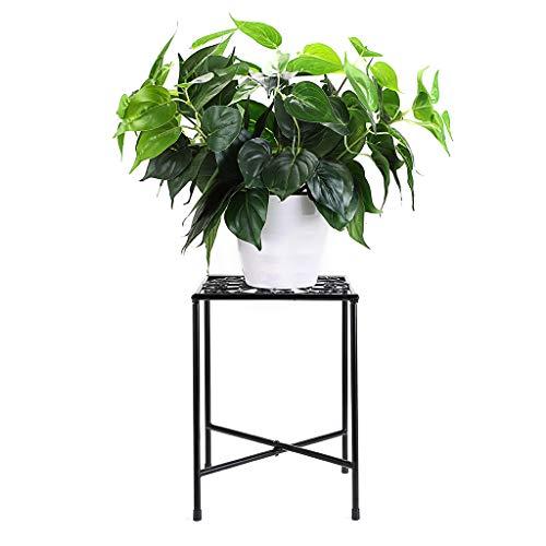 SUMTree Taburete de hierro vintage para plantas, escaleras de flores, estantería de jardín,...