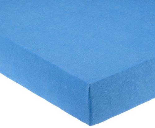 Pinolino 540002-1 - Spannbetttuch für Kinderbetten, Jersey, blau
