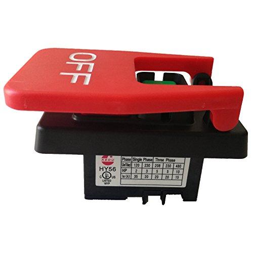 Interruptor de botón de encendido y apagado industrial,