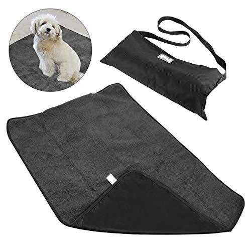 RCruning-EU Manta para Mascotas, Impermeable y de Felpa Manta para Perros con Bolsa de Transporte portátil para Perros Perrito Gato Aplicaciones para exteriore 100 X 70cm