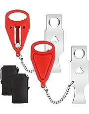 Draagbaar deurslot, 2 stuks, reisslot, veiligheidsslot voor hotel, school, reizen, studentenhuis, badkamer, woningdeur, extra slot