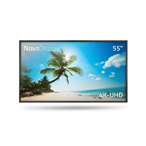 Vivitek NovoDisplay 55 Zoll (1,4 m) 4K UHD, LED Monitor Flachbildschirm TV, kabellose Präsentation, Signage-Display, Digitale Beschilderung, Infotafel, 8,3 Megapixel, 16:9, schwarz