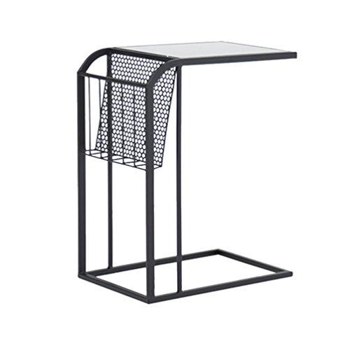DNSJB houten salontafel, bank zijtafel, kleine eettafel buiten tuintafel, nachtkastje, 45 x 30 x 65 cm