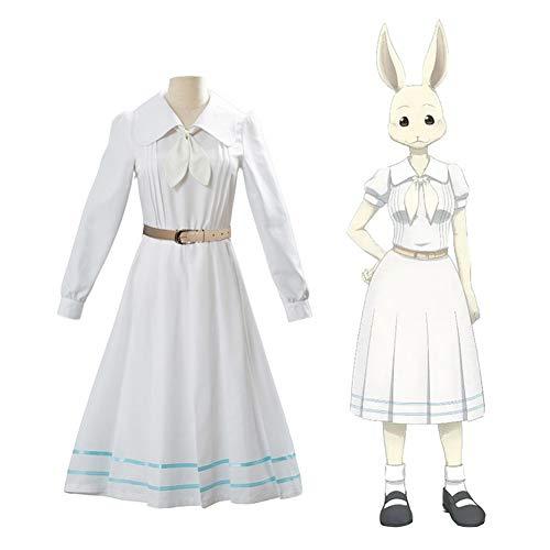 CDSVP Anime Beastars Haru Cosplay disfraz uniforme blanco conejo Animal lindo vestido...