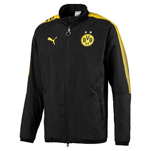 PUMA Herren BVB Leisure Jkt without Sponsor Logo with 2 side pockets wit Jacke, Black, M