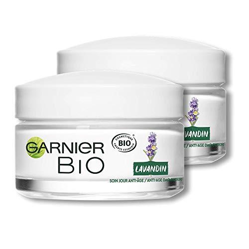 Garnier Bio - Soin Jour Anti-Âge - Lavandin Régénérant - Tous Types de Peaux Même Sensibles - Lot de 2 x 50 ml