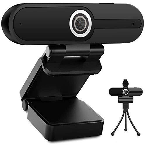 Webcam 4K 1080p con microfono - 8 Megapixel USB Computer Web Camera Shutter Privacy e Treppiede Pro Streaming Webcam PC Mac Desktop Laptop per Video Calling Registrazione Conferenza Zoom Skype YouTube