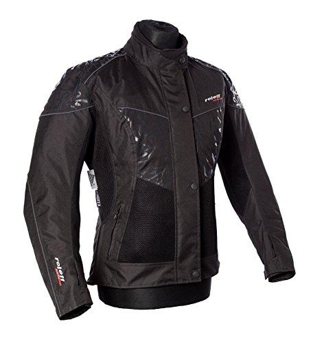 Roleff Racewear Mesh Motorradjacke Lady Messina, Schwarz, Größe XXL