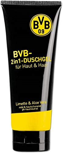 Borussia Dortmund 2in1 Duschgel Lemon/Aloe Vera für Haut und Haar, Hair & Body Showergel BVB 09 (L)