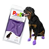 Pawz Dog Boots | Dog Paw Protection with Dog Rubber Booties | Dog Booties for Winter, Rain and Pavement Heat | Waterproof Dog Shoes for Clean Paws | Paw Friction for Dogs | Dog Shoes (L)