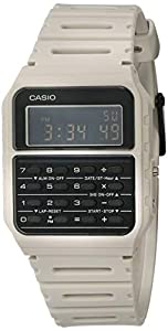 Casio Data Bank Quartz Watch with Resin Strap, Beige, 24.1 (Model: CA-53WF-8BCF)