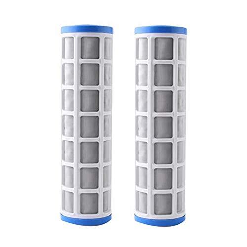 tellaLuna 2 unids 10 pulgadas de alambre de acero filtro cartucho purificador de agua pre filtro para cartuchos de filtro de escala