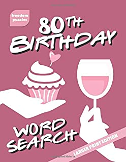 80th Birthday Large Print Word Search Book
