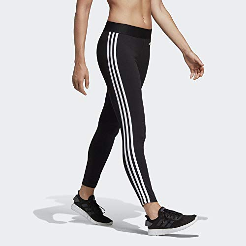 adidas Essentials 3S Pants, Donna, Black/White, XL/52-54