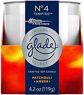 Glade Atmosphere Collection Crafted Soy Candle Air Freshener No 4 Tempted 4.2 Ounces (3pack)