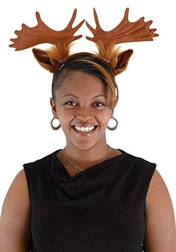 Moose Animal Ears and Antlers Costume Headband