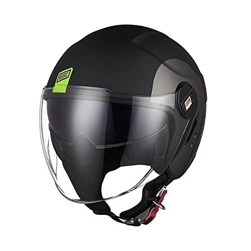 Origine Casco de la motocicleta de la cara abierta con doble visera tirón ECE para hombres de las mujeres