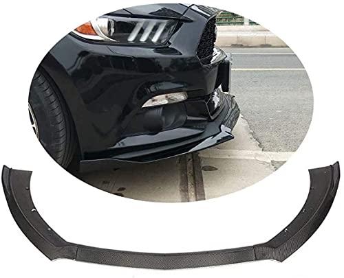 Coche Fibra Carbono Alerón Delantero Parachoques Divisor Labio Spoiler Difusor Para Ford Mustang Coupe Convertible 2-Door 2015-2017, Automóvil Protector Modificado Accesorio