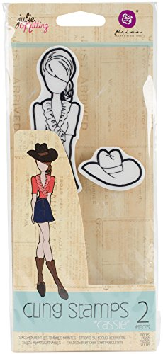 Prima Marketing Julie Nutting Mixed Media Cling Rubber Stamps-Cassie