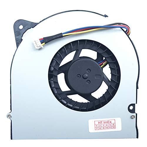(Version 2 - Höhe: ca. 11 mm) Lüfter Kühler Fan Cooler kompatibel für ASUS G71V-7S036C, G71V-7T043G, G71V-7T025C, AS-G71V-1A, G71V-7T032G, G71V-7S122K, G72GX-TY009V