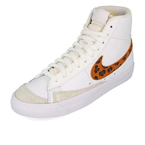 Nike WMNS Blazer Mid '77 SE - Chaqueta para mujer, diseño de leopardo, color blanco, blanco y blanco, color Blanco, talla 41 EU