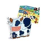 Djeco Puzzle Infantil Silueta Las Vacas de la Granja 24 Piezas Grandes. Niños +3 años