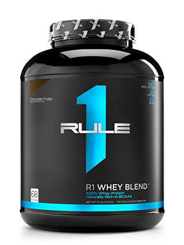 Rule One Proteins R1 Whey Blend, Rule 1 Proteins (Chocolate Fudge, 68 Servings)