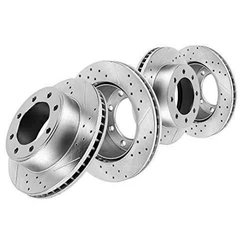 Callahan CDS02524 FRONT 360mm + REAR 358.26mm D/S 8 Lug [4] Rotors [ fit 2009-2017 Dodge Ram 2500 2009-2013 Ram 3500 ]