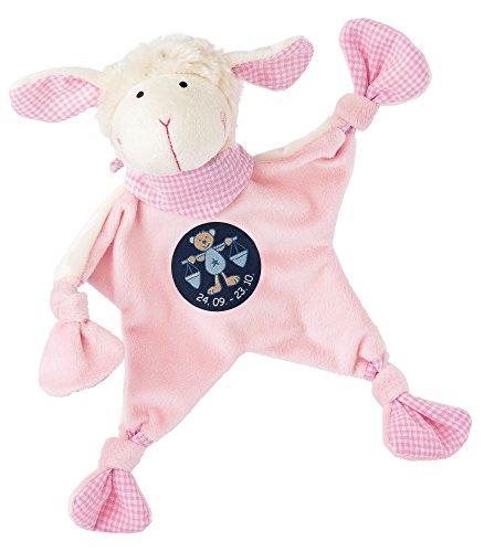 sigikid, Mädchen, Schnuffeltuch, Schaf mit Sternzeichen Waage, Rosa, 48822