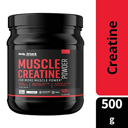 Body Attack Muscle Creatine, 1er Pack (1 x 500 g) - 3