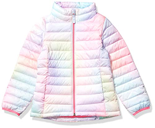 Amazon Essentials Hooded Puffer Jacket Outerwear-Jackets, Rosa Degradado, Medium