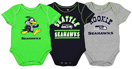 Outerstuff NFL Boys Newborn and Infant Assorted Team 3 Pack Creeper Set New Orleans Saints 18 Months