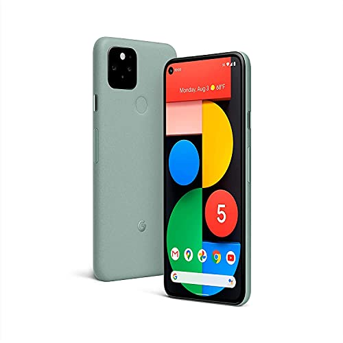 Google Pixel 5 128GB + 8GB RAM - 6 inch Android 5G Phone, Water Resistant (IPX8) - GSM Unlocked Smartphone (Sorta Sage) - UK Version