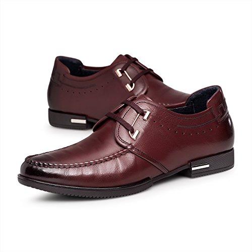 ZRO Men's fashion Lace-Up Oxford Mocc-Toe Shoe WINE US 7