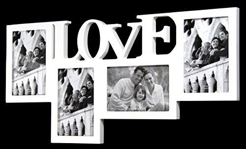 Wamat BILDERRAHMEN FOTORAHMEN Rahmen Love Foto außergewöhnlich 4 Bilder 10 x 15 cm