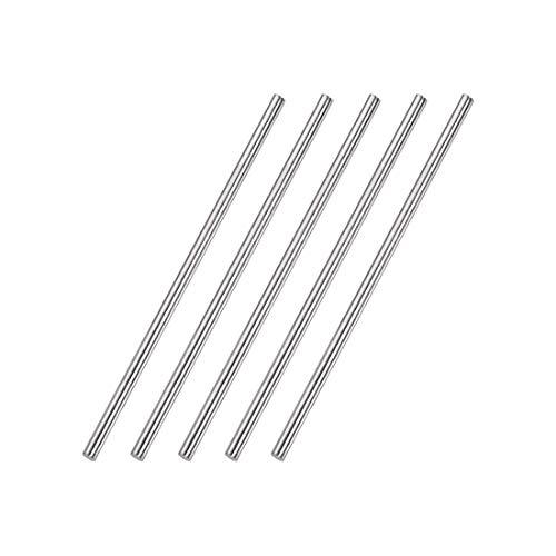 DealMux - Varilla redonda sólida de acero inoxidable 304 de 4 mm x 150 mm para manualidades de bricolaje - 5 piezas