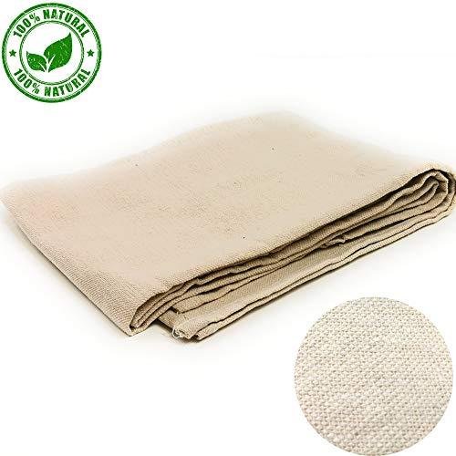 Kerafactum Passiertuch Käsetuch wiederverwendbar 1 Stück 90 x 85 cm für Käseherstellung Obstpresse Mulltuch Tuch aus 100{785ff9f5e03ef3c2a78aee56baf8ed9438051da33bd921fa4aae457fd14acb47} Baumwolle Abseihtuch für Käse Nussmilch nut Milk Filter Säfte Milchtuch
