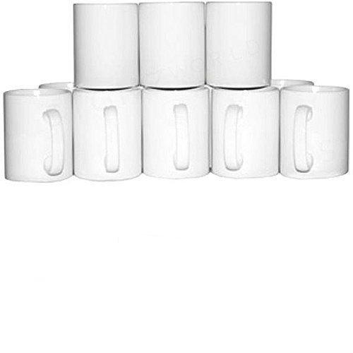 Signzworld 11oz tazas mango revestimiento blanco
