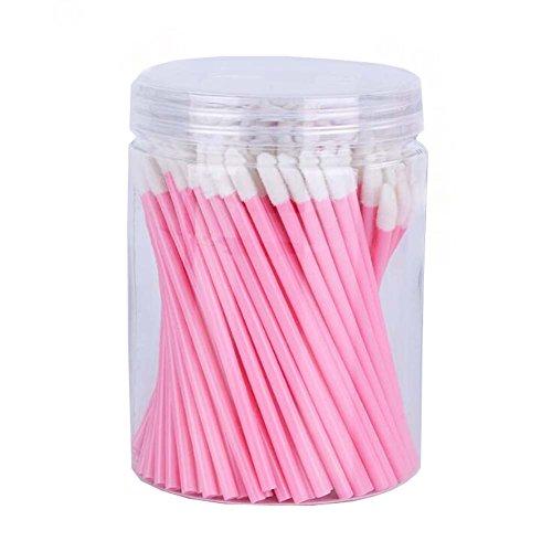 Pinceaux à lèvres jetables Make Up Brush Lipstick Lip Gloss Wands applicateur outil rose