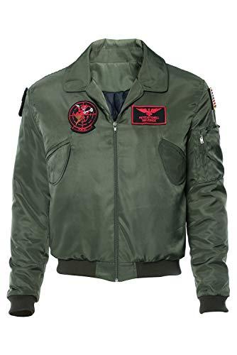 RedJade Top Gun: Maverick Bomber Jacke Cosplay Kostüm Grün Herren M